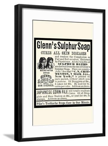 Glenn's Sulphur Soap--Framed Art Print