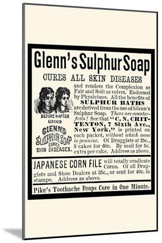 Glenn's Sulphur Soap--Mounted Art Print