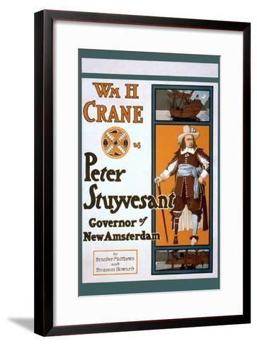 Peter Stuyvesant Dutch Governor of New York--Framed Art Print