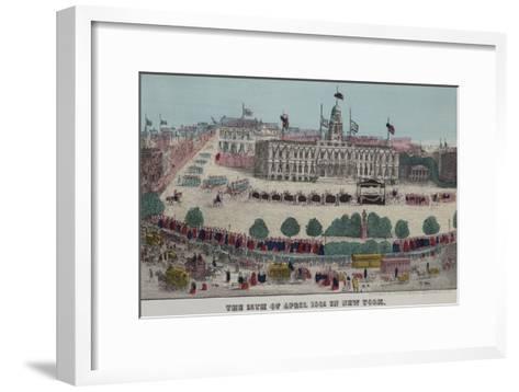 President Lincoln's Funeral Cortege--Framed Art Print