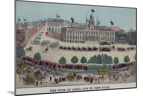 President Lincoln's Funeral Cortege--Mounted Art Print