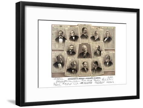 Representative Journals and Journalists of America- Root & Tinker-Framed Art Print