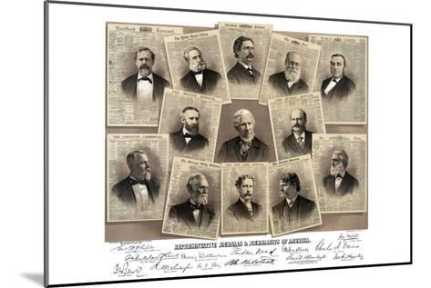 Representative Journals and Journalists of America- Root & Tinker-Mounted Art Print