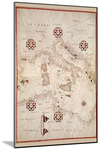 Portolan Atlas of the Mediterranean Sea, Western Europe, and the Northwest Coast of Africa-Joan Oliva-Mounted Art Print