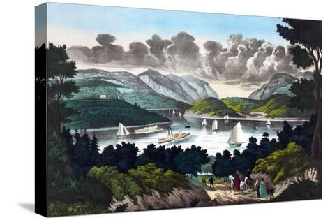 View on the Hudson - West Point- John Walsh & Co-Stretched Canvas Print