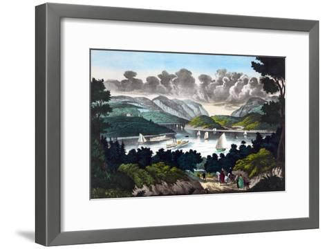 View on the Hudson - West Point- John Walsh & Co-Framed Art Print