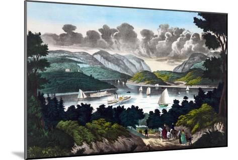 View on the Hudson - West Point- John Walsh & Co-Mounted Art Print