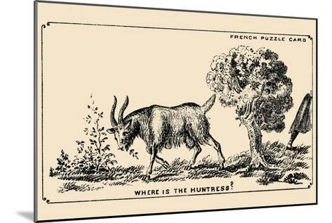 Where Is the Huntress?- French Puzzle Card-Mounted Art Print