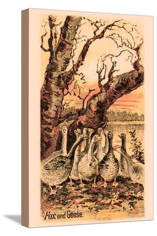 Fox and Geese--Stretched Canvas Print