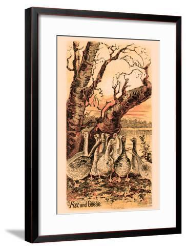 Fox and Geese--Framed Art Print