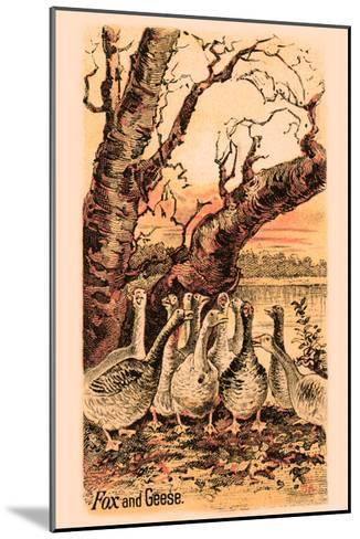 Fox and Geese--Mounted Art Print