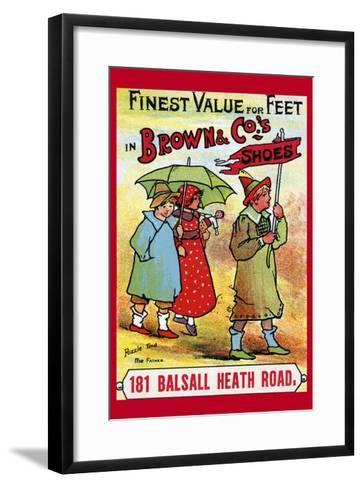 Brown and Co. Shoes Puzzle - Find the Father--Framed Art Print