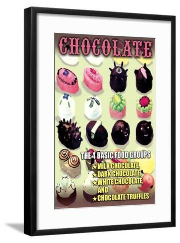 The 4 Basic Food Groups: Chocolate-Wilbur Pierce-Framed Art Print