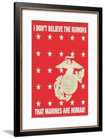 I Don't Believe the Rumors-Wilbur Pierce-Framed Art Print