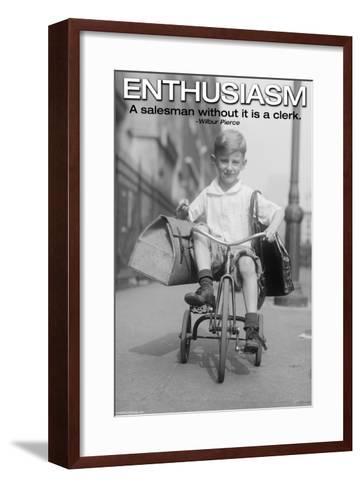 Enthusiasm-Wilbur Pierce-Framed Art Print