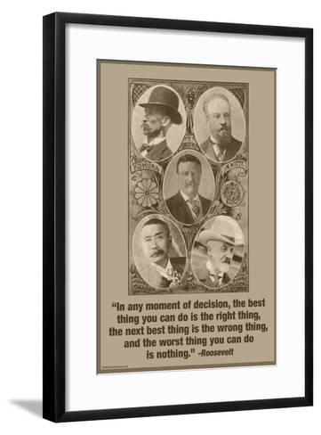 Moment of Decision-Wilbur Pierce-Framed Art Print