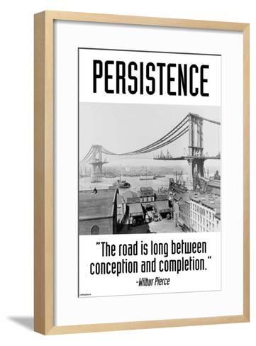 Persistence-Wilbur Pierce-Framed Art Print