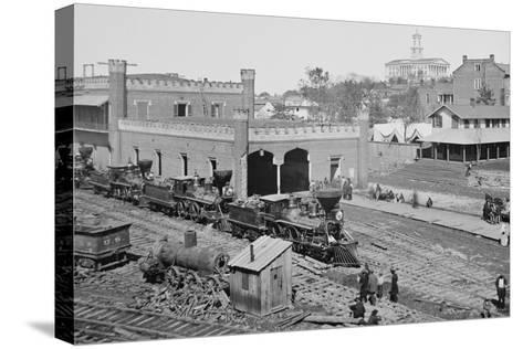 Civil War Depot--Stretched Canvas Print