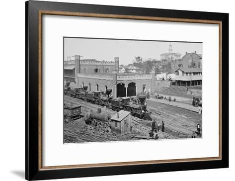 Civil War Depot--Framed Art Print