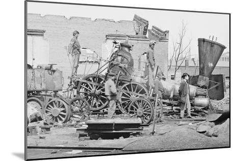 Civil War Train Wreck--Mounted Art Print