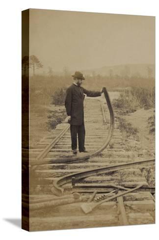 Bent Rails Cw--Stretched Canvas Print
