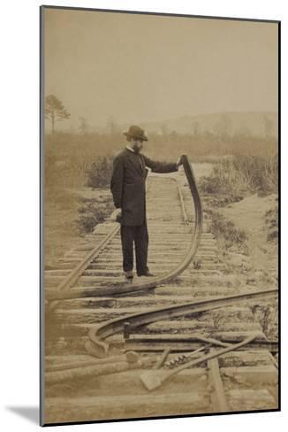 Bent Rails Cw--Mounted Art Print