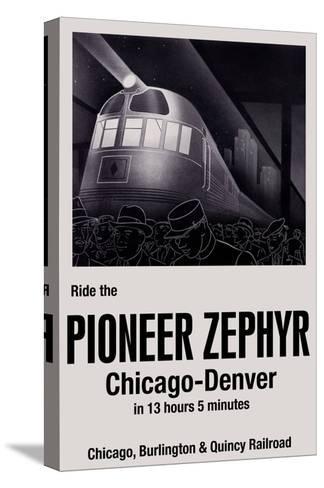 Ride the Pioneer Zephyr-Paris Pierce-Stretched Canvas Print