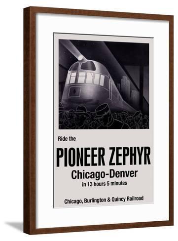Ride the Pioneer Zephyr-Paris Pierce-Framed Art Print