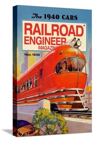 Railroad Engineer Magazine: the 1940 Cars--Stretched Canvas Print