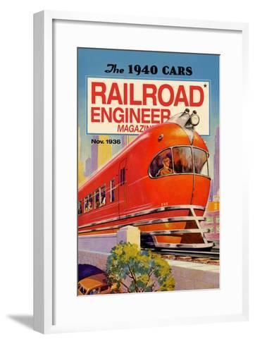 Railroad Engineer Magazine: the 1940 Cars--Framed Art Print