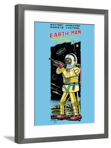 Battery Operated Remote Control Earthman--Framed Art Print