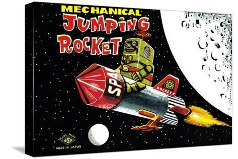 Mechanical Jumping Rocket--Stretched Canvas Print