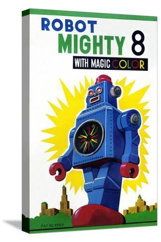 Robot Mighty 8 with Magic Color--Stretched Canvas Print