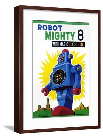 Robot Mighty 8 with Magic Color--Framed Art Print