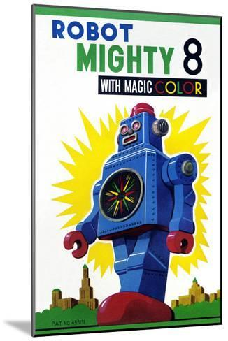 Robot Mighty 8 with Magic Color--Mounted Art Print