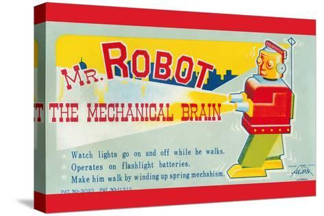 Mr. Robot: the Mechanical Brain--Stretched Canvas Print