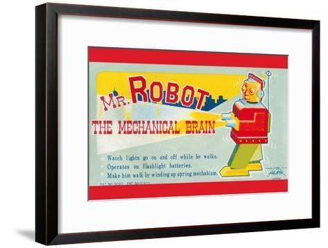 Mr. Robot: the Mechanical Brain--Framed Art Print