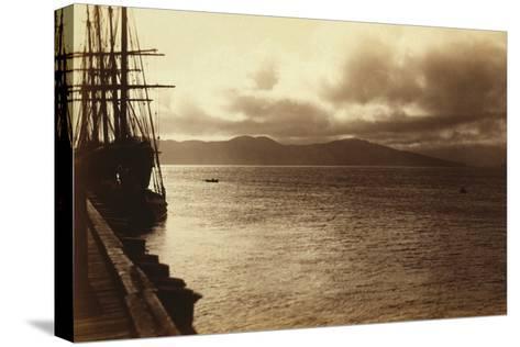 Sunset Study, San Francisco Bay-George Fiske-Stretched Canvas Print