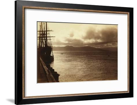Sunset Study, San Francisco Bay-George Fiske-Framed Art Print