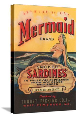 Mermaid Brand Smoked Sardines--Stretched Canvas Print