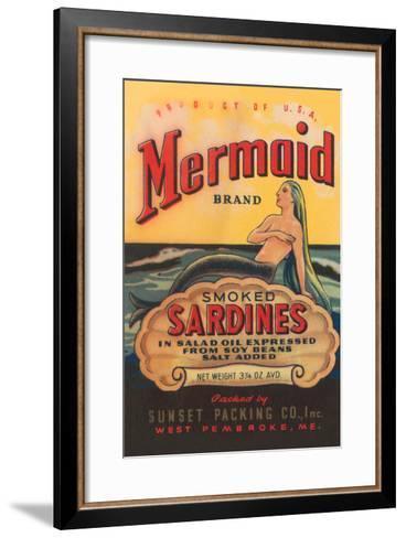 Mermaid Brand Smoked Sardines--Framed Art Print