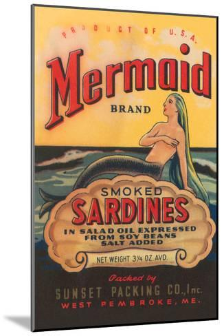 Mermaid Brand Smoked Sardines--Mounted Art Print