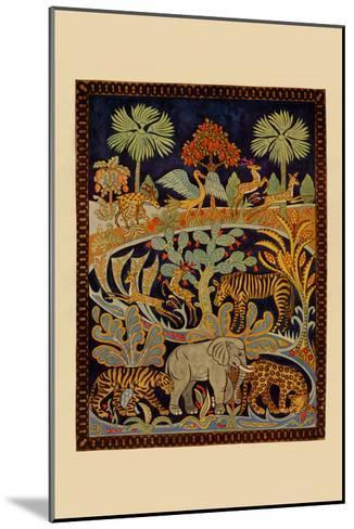 Animal Tapestry-Needlecraft Magazine-Mounted Art Print