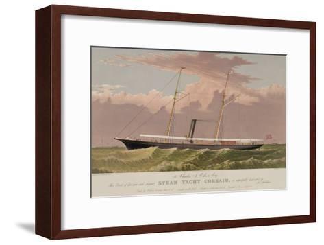 Steam Yacht Corsair--Framed Art Print