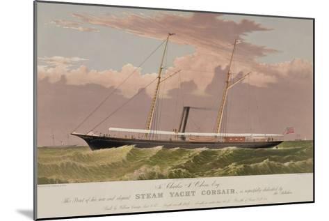 Steam Yacht Corsair--Mounted Art Print