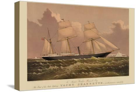 Yacht Jeannette--Stretched Canvas Print