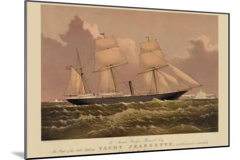 Yacht Jeannette--Mounted Art Print