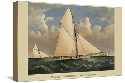 """Yacht """"Puritan"""" of Boston--Stretched Canvas Print"""