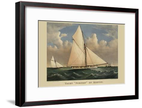 "Yacht ""Puritan"" of Boston--Framed Art Print"