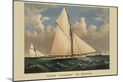 "Yacht ""Puritan"" of Boston--Mounted Art Print"